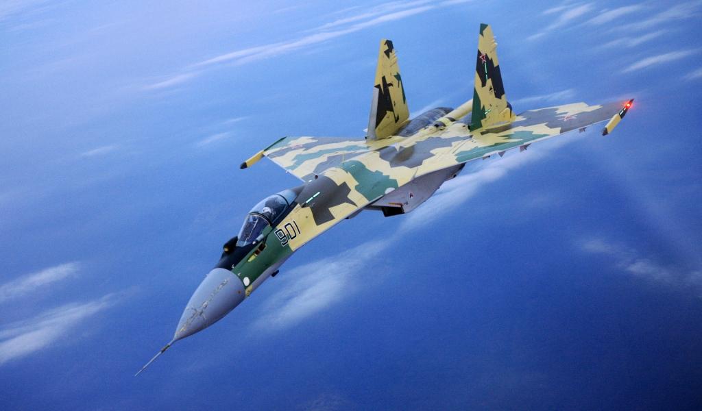 Avión Su 27 Flanker - 1024x600