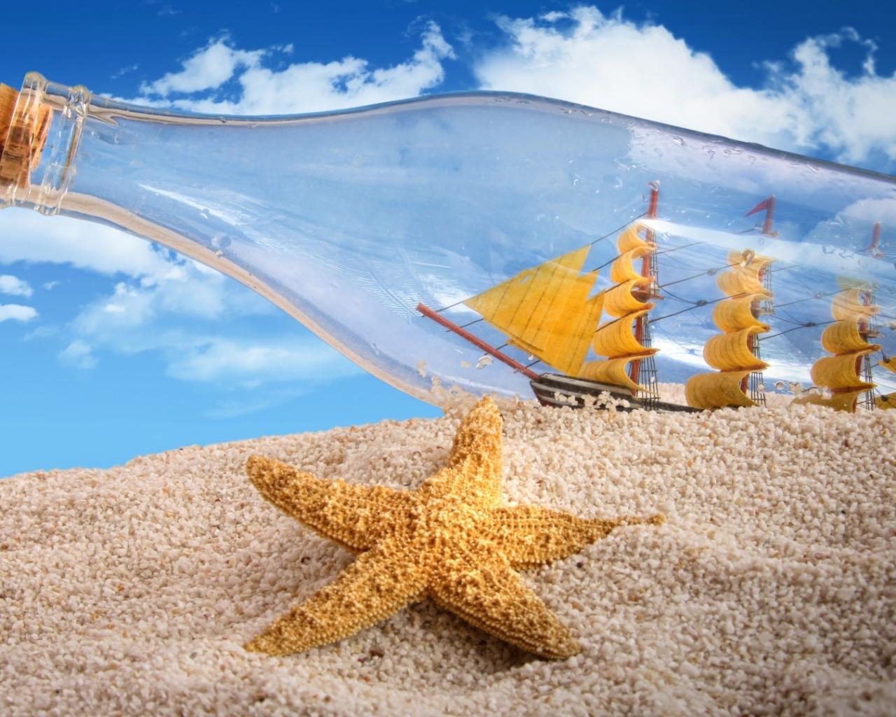 Barco en botella - 1280x1024