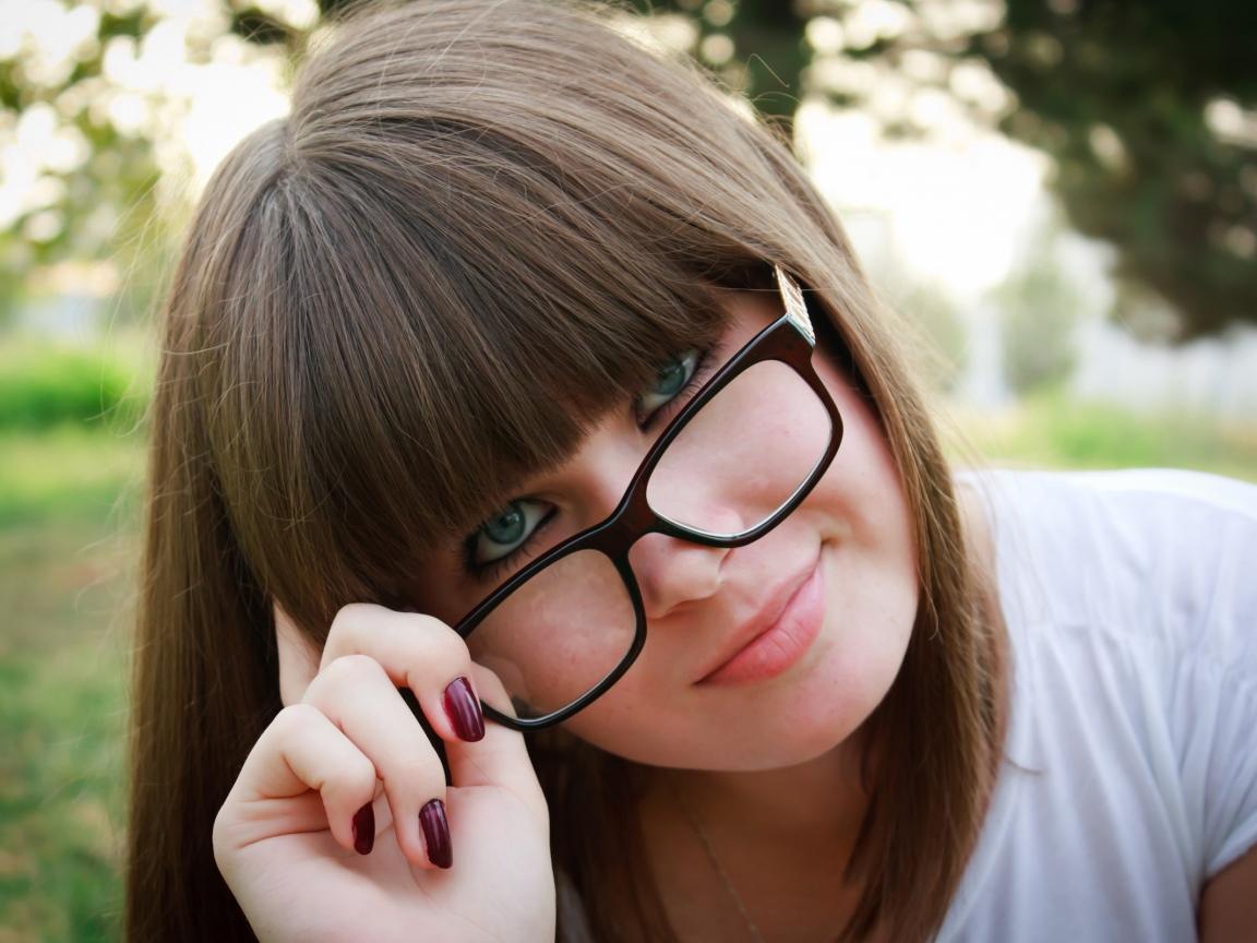 Bella chicas con lentes - 1152x864