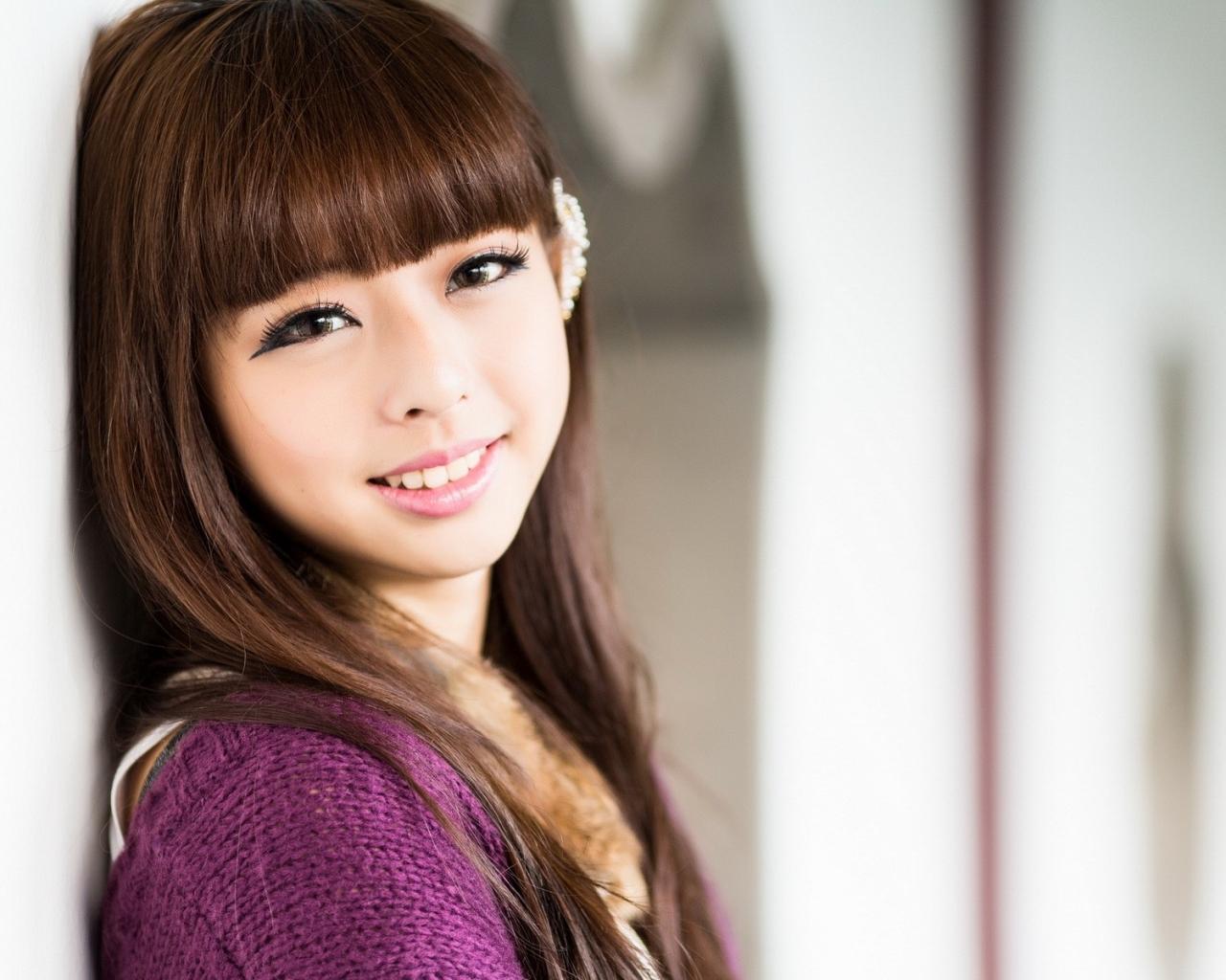 Bello rostro asiático - 1280x1024