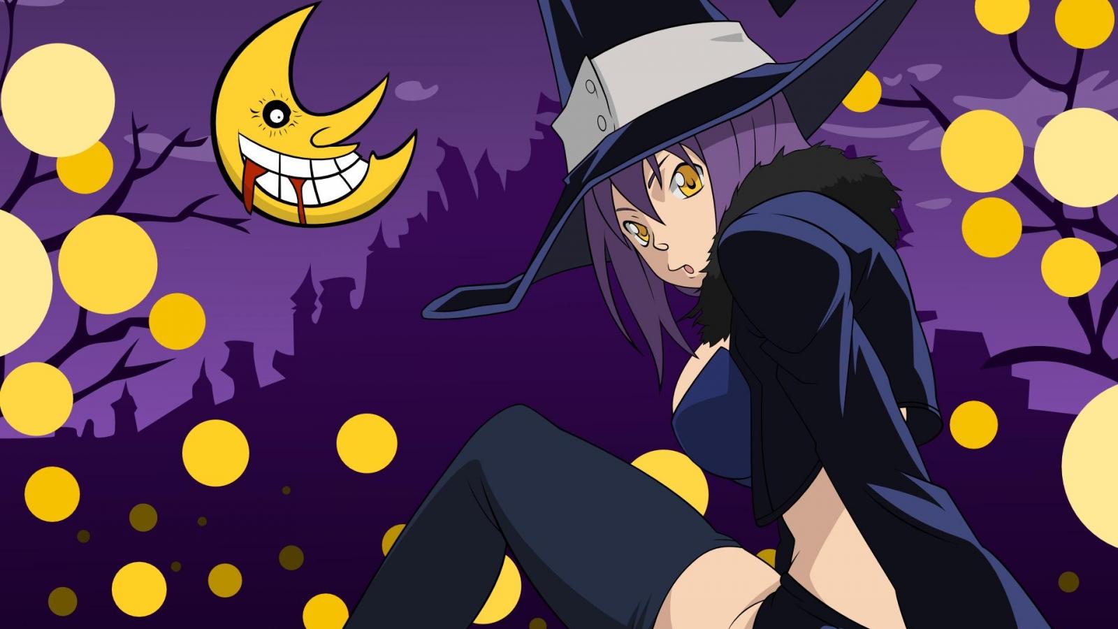 Bruja en halloween - 1600x900