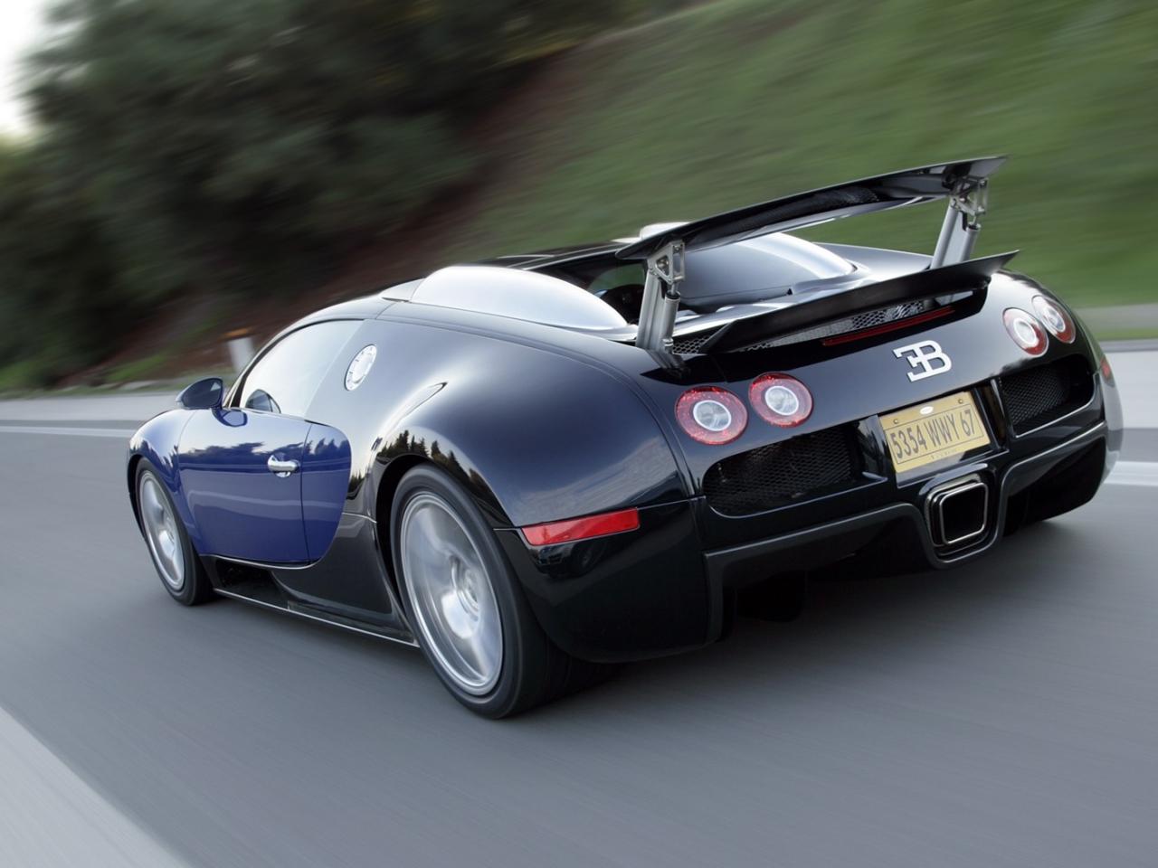 Bugatti Veyron en la carretera - 1280x960