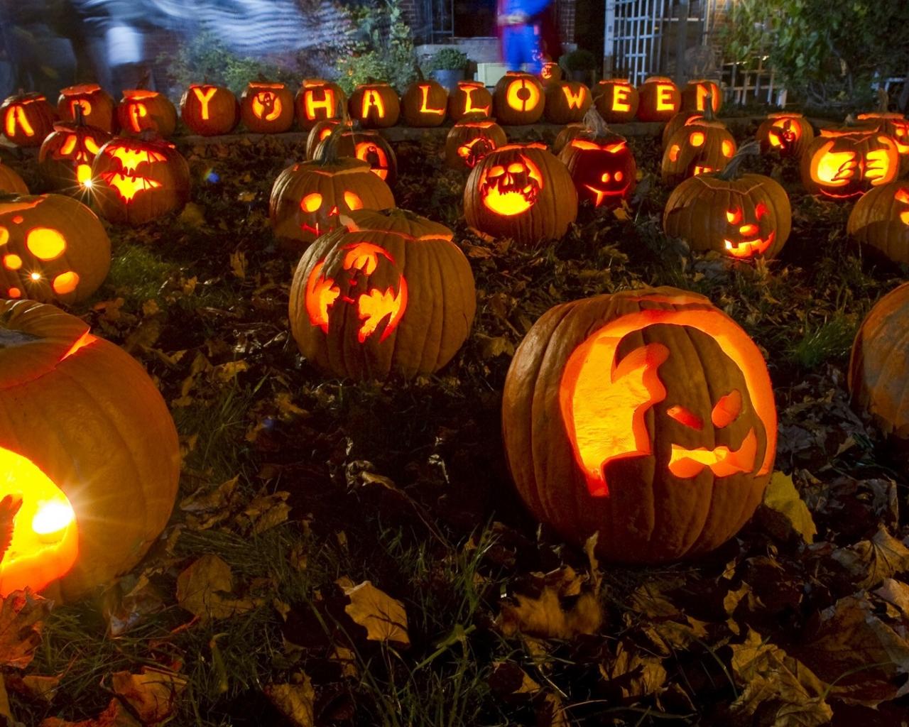 Calabazas para Halloween - 1280x1024