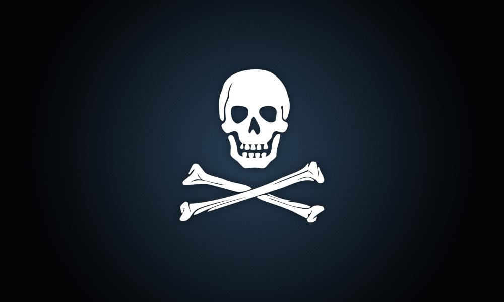 Calavera de piratas - 1000x600