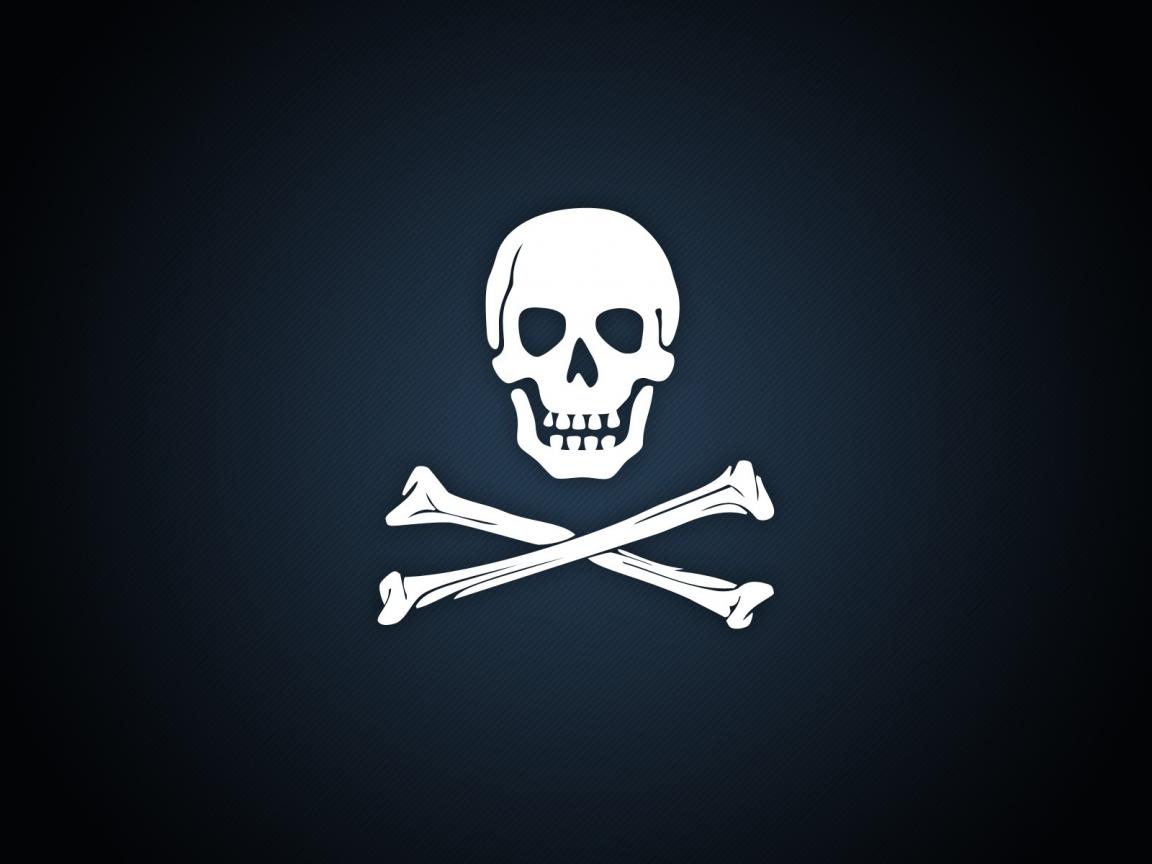 Calavera de piratas - 1152x864