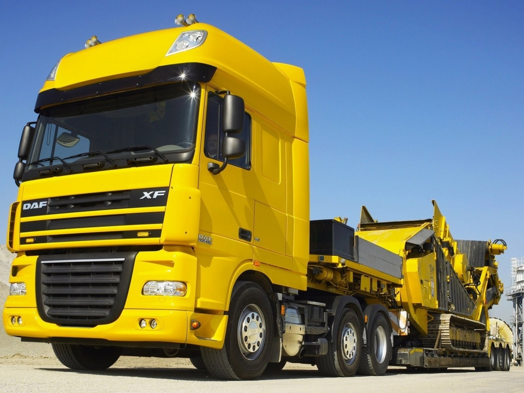 Autos Camiones Fondos De Pantalla Gratis: Camion Cama Baja Hd 1024x768