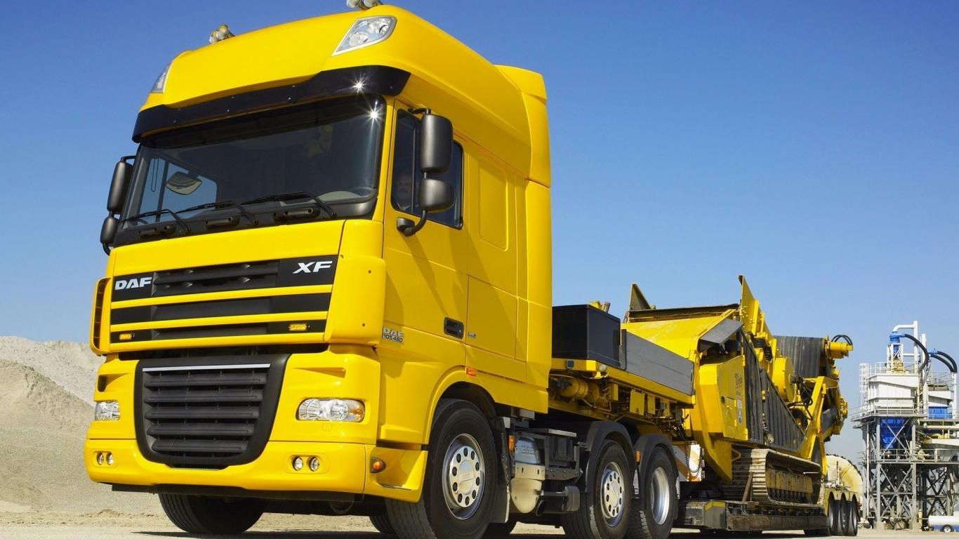 Autos Camiones Fondos De Pantalla Gratis: Camion Cama Baja Hd 1366x768