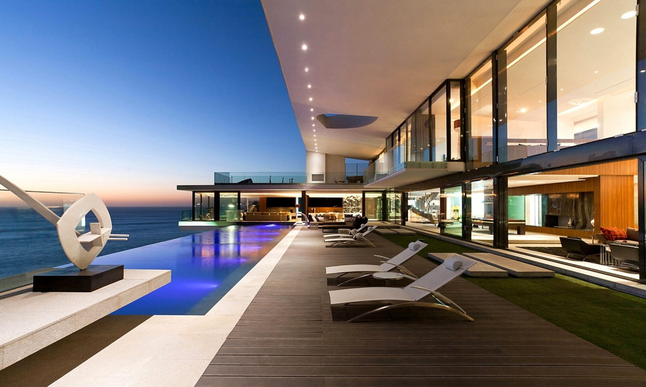 Casa con vista al mar - 1280x768
