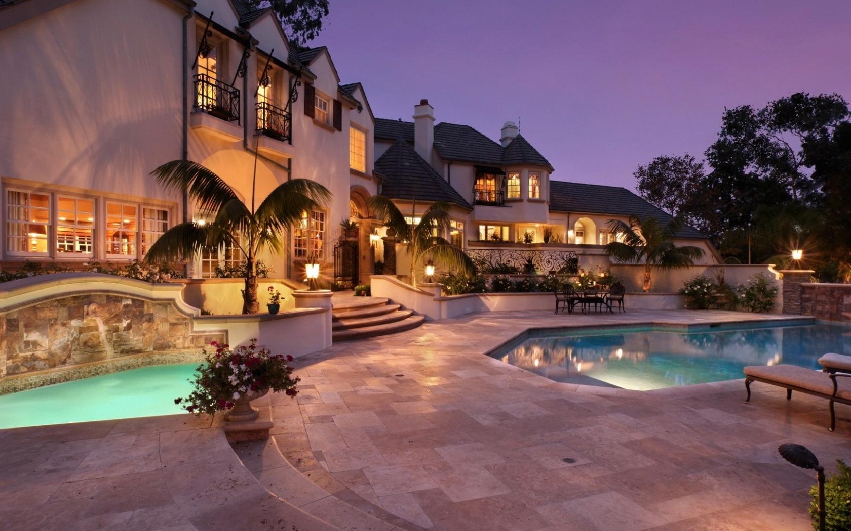 Casas con piscinas - 1680x1050
