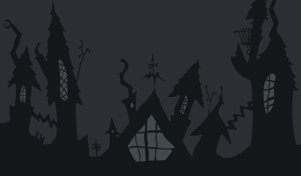 Castillo de noche de brujas - 1024x600