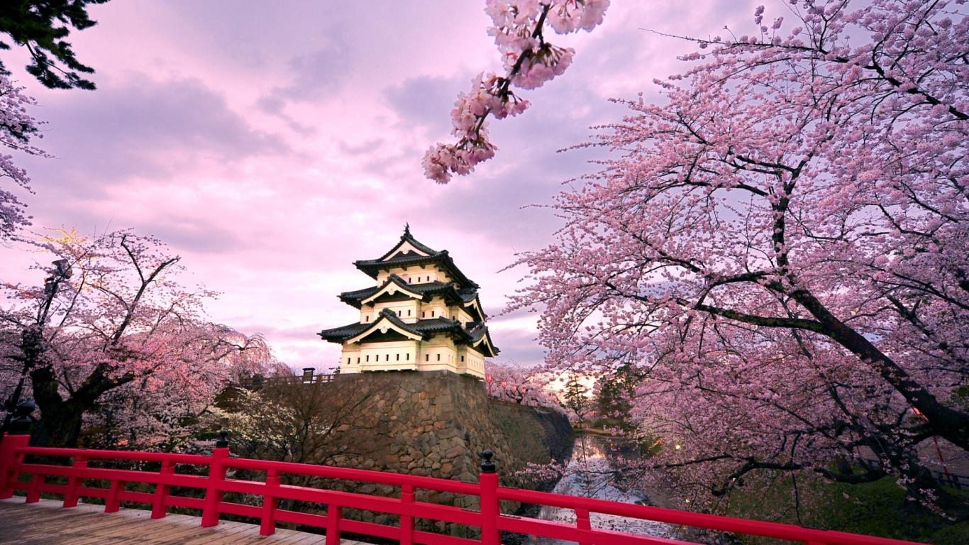 Castillo Japonés - 1366x768