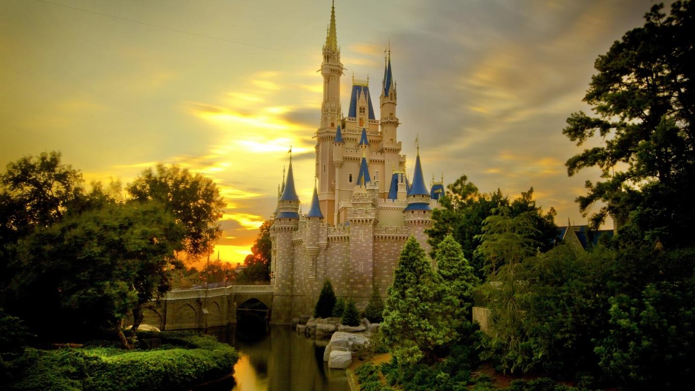 Castillos de princesas - 1366x768