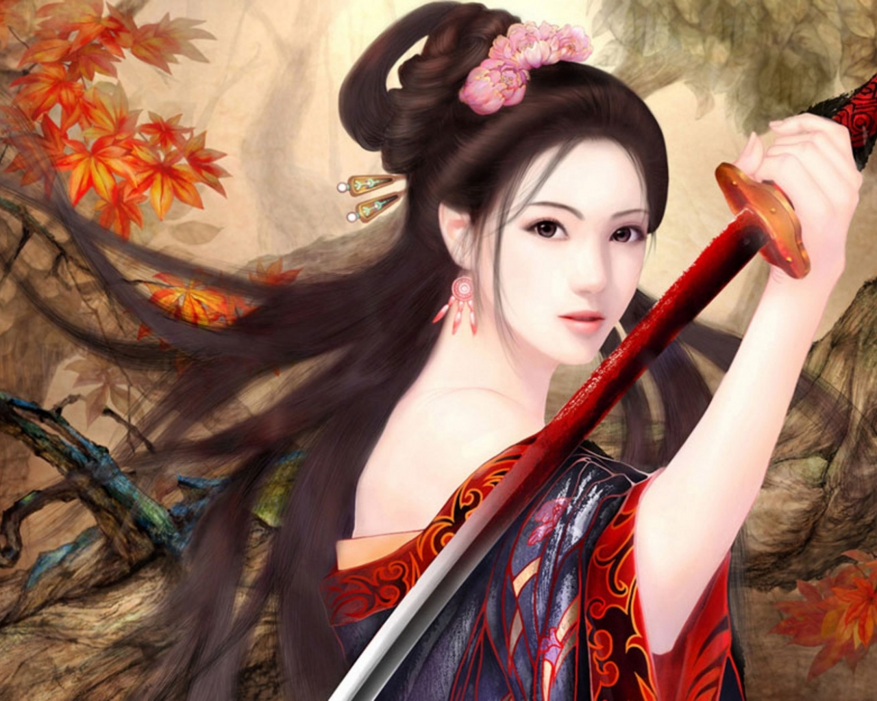 Chica de anime - 1280x1024