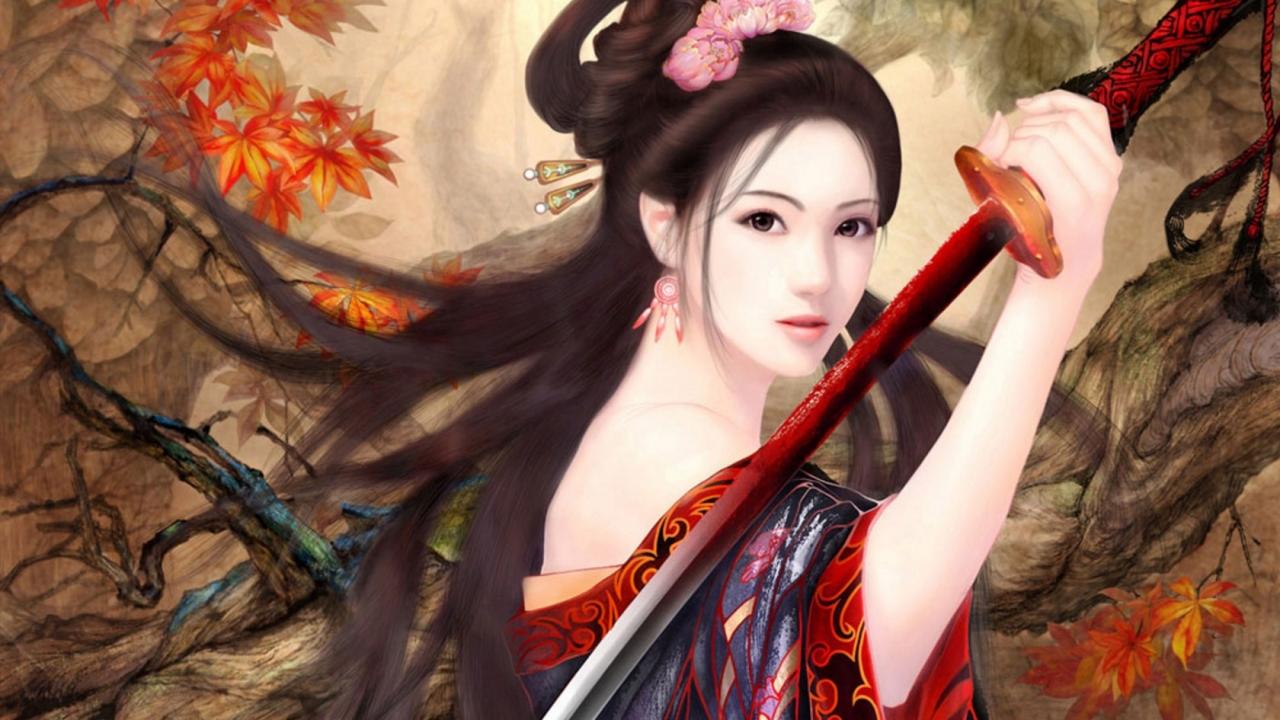 Chica de anime - 1280x720