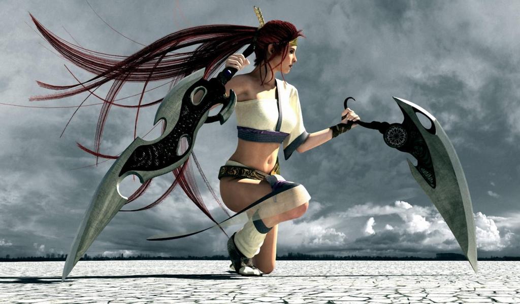 Chica de Heavenly Sword - 1024x600