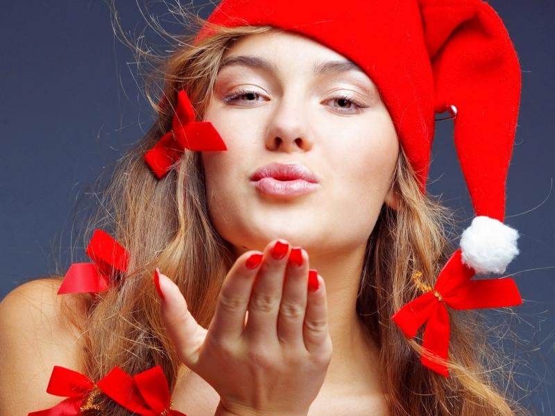 Chica disfraz de Santa Claus - 800x600