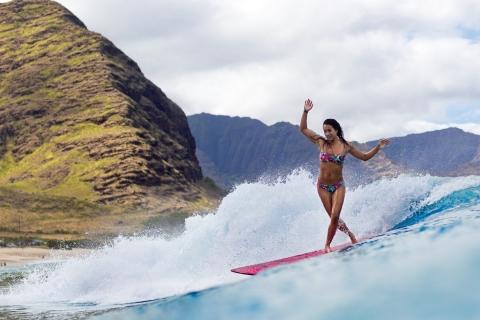 Chicas practicando Surf - 480x320