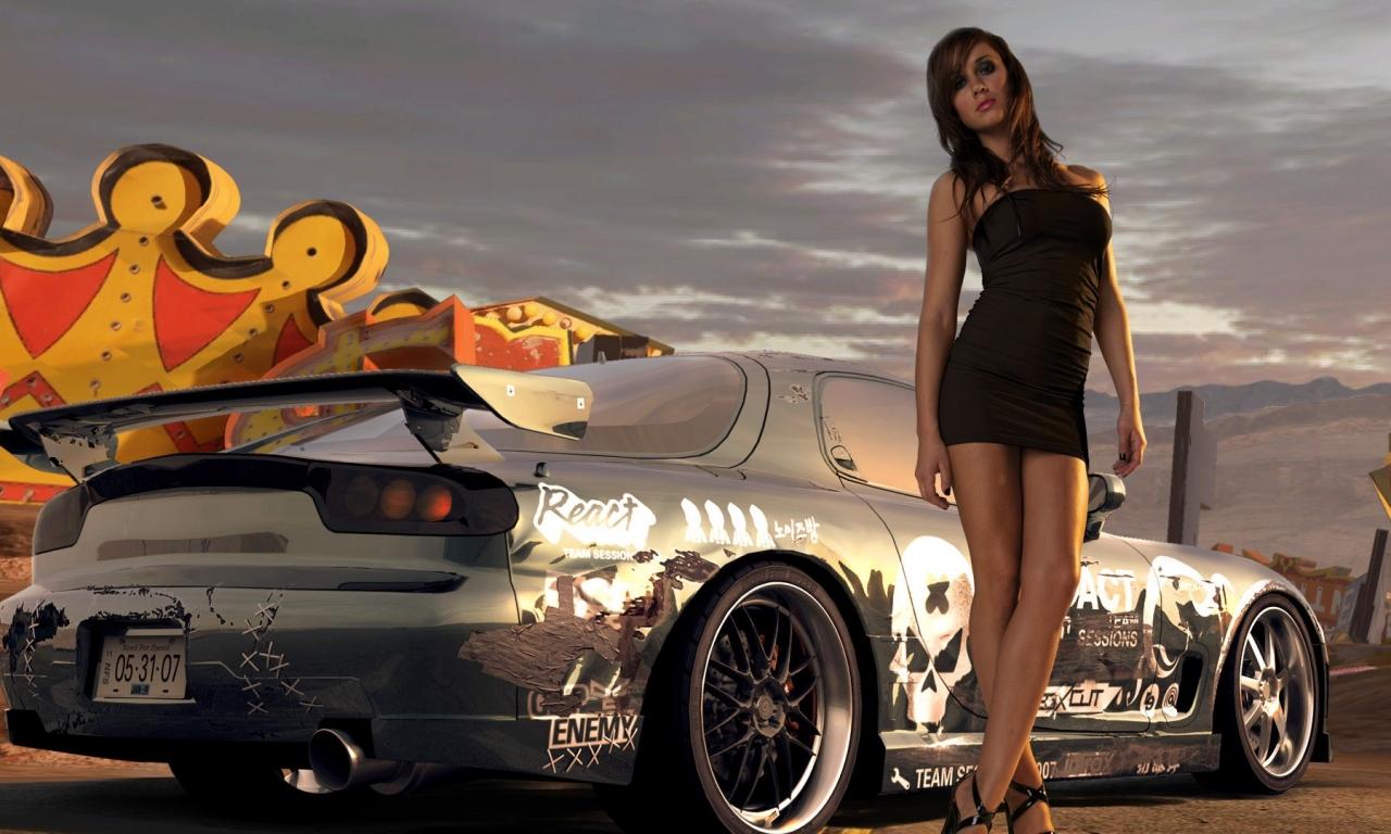 Chicas y autos - 1280x768