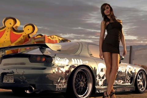 Chicas y autos - 480x320