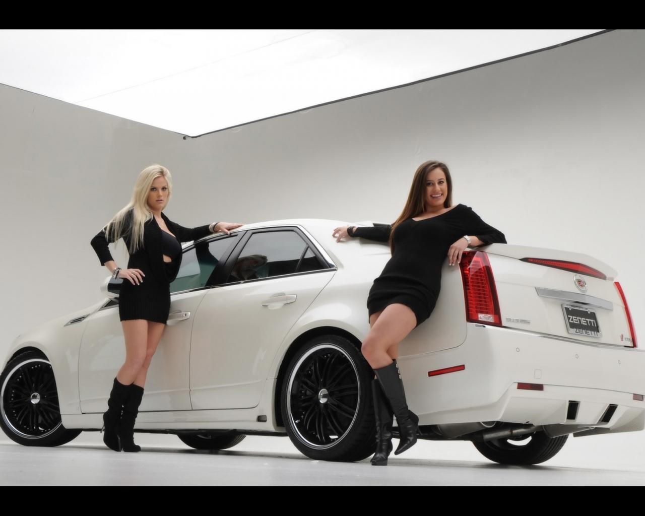 Chicas y Cadillac - 1280x1024