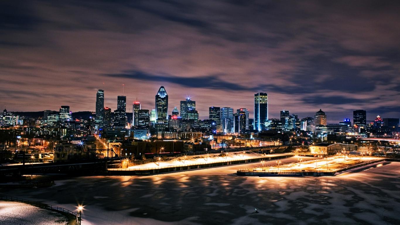 Ciudades nocturnas - 1366x768