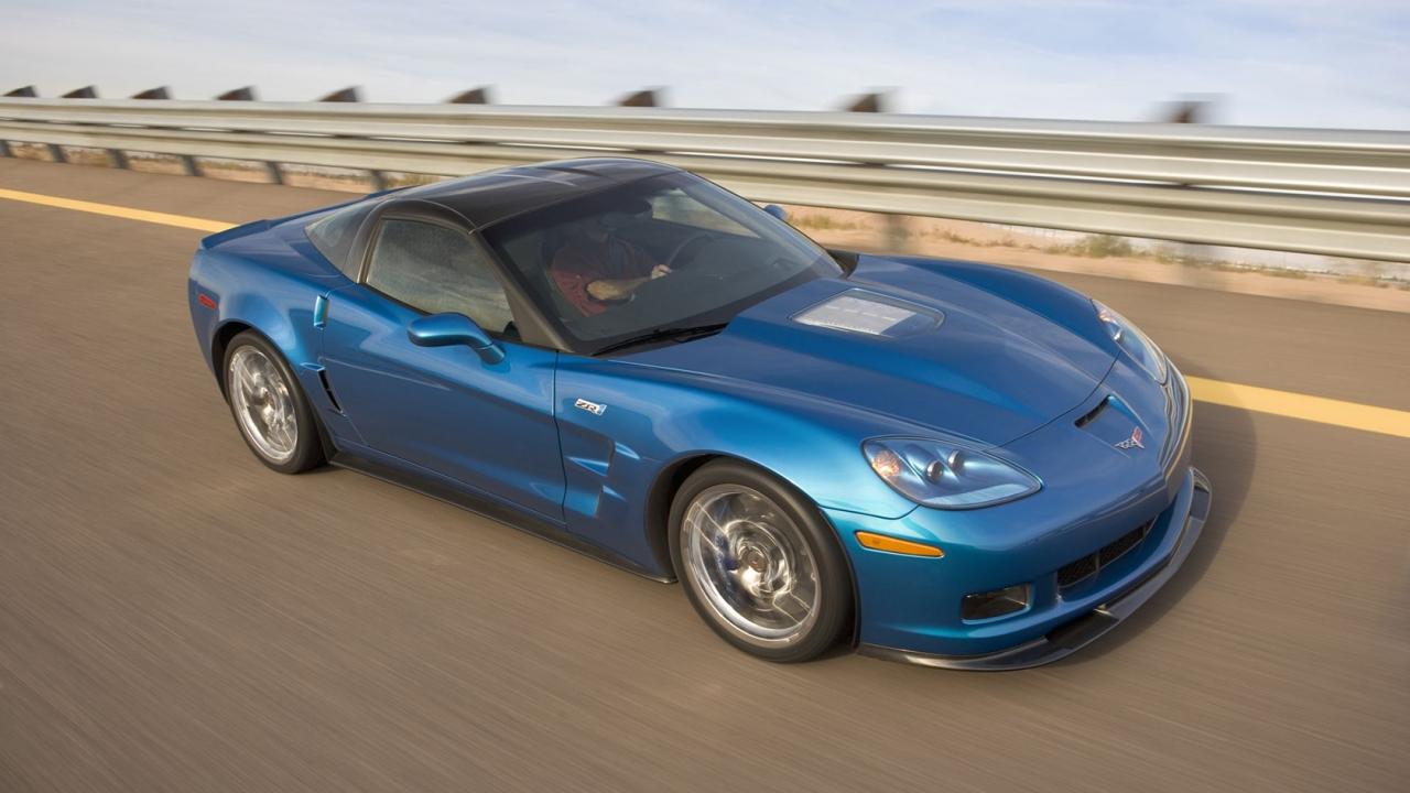 Chevrolet Corvette azul - 1280x720