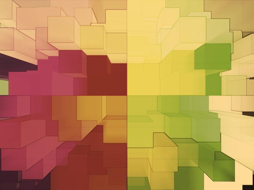 Cuadros abstractos pixelados - 1024x768