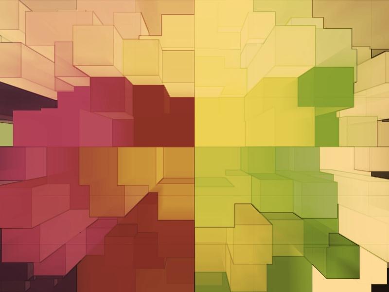 Cuadros abstractos pixelados - 800x600