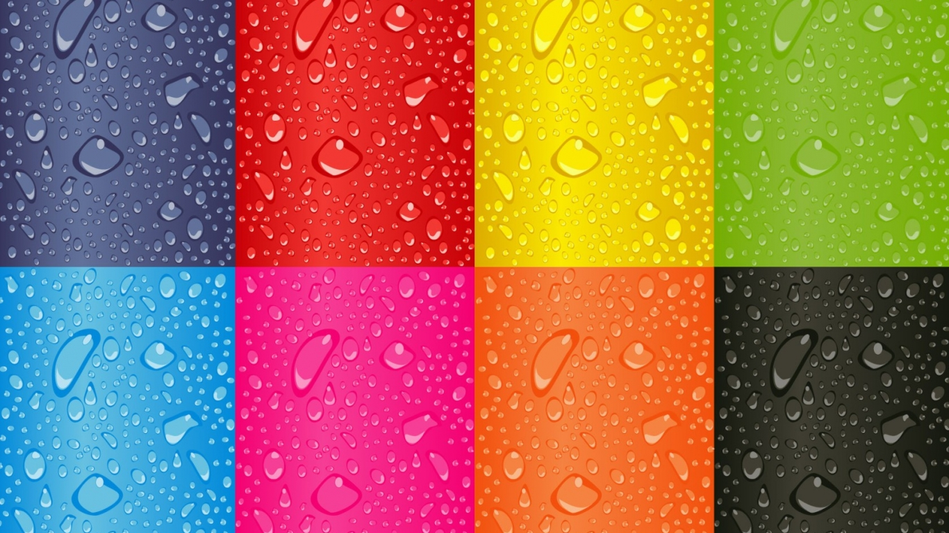 Cuadros de colores - 1366x768