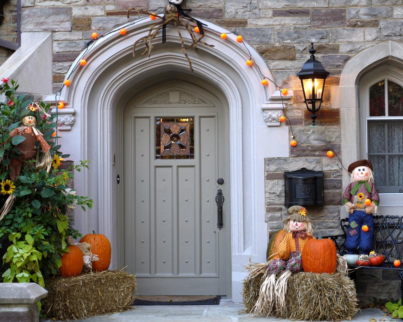 Decoración de casa halloween - 1280x1024