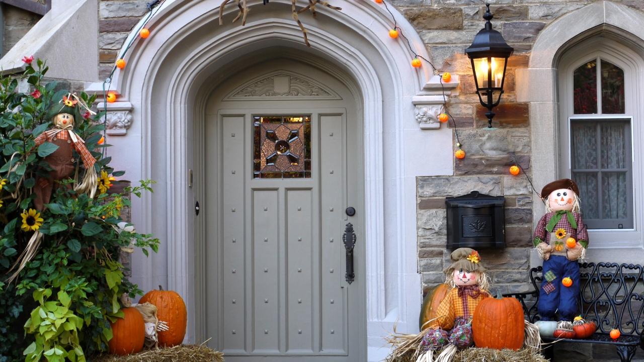 Decoración de casa halloween - 1280x720