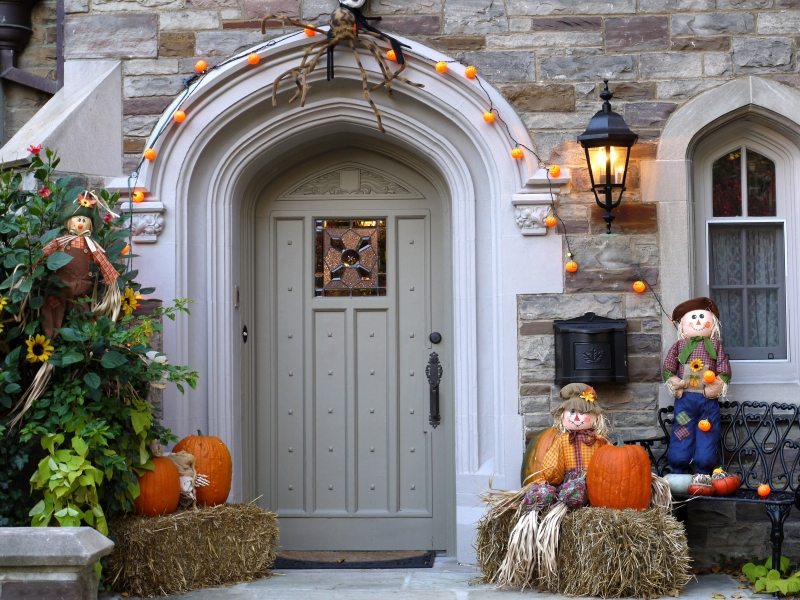 Decoración de casa halloween - 800x600