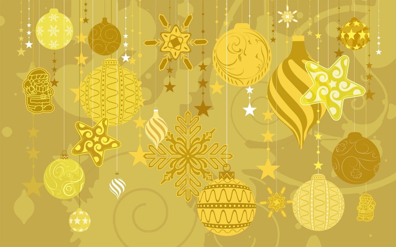 Decoración y adornos dorados - 1280x800