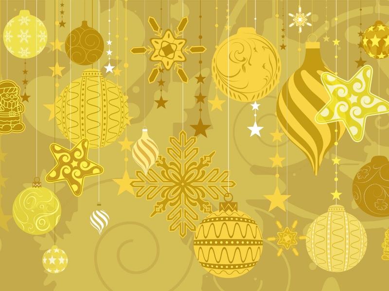 Decoración y adornos dorados - 800x600