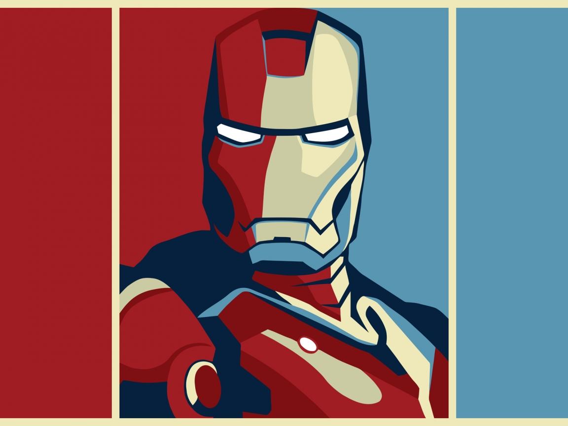 Dibujo de Iron Man - 1152x864