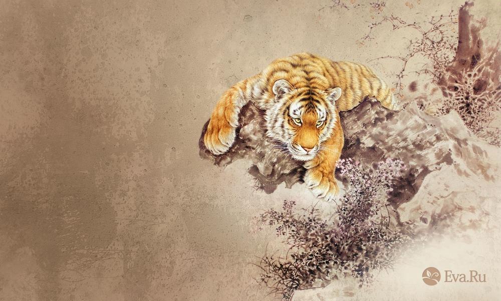 Dibujo de un tigre - 1000x600