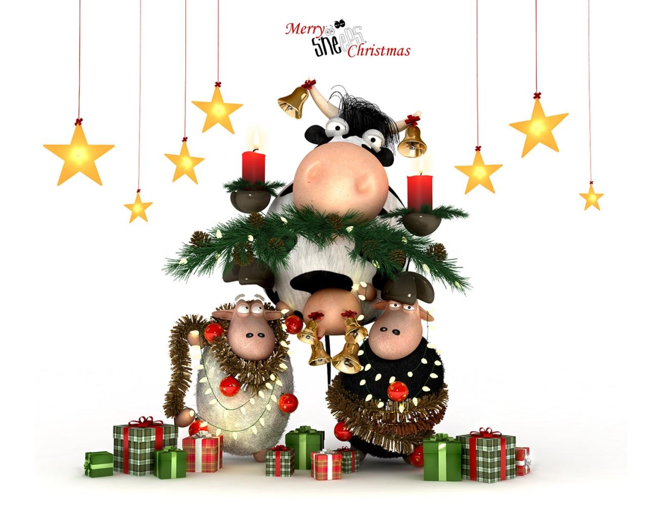 Dibujos por navidad - 1280x1024