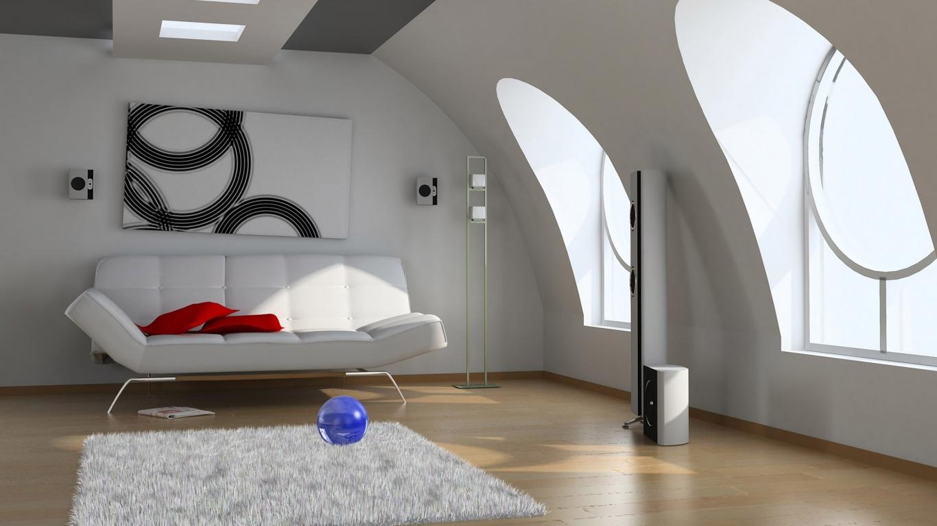Diseño 3d De Una Sala Hd 1366x768
