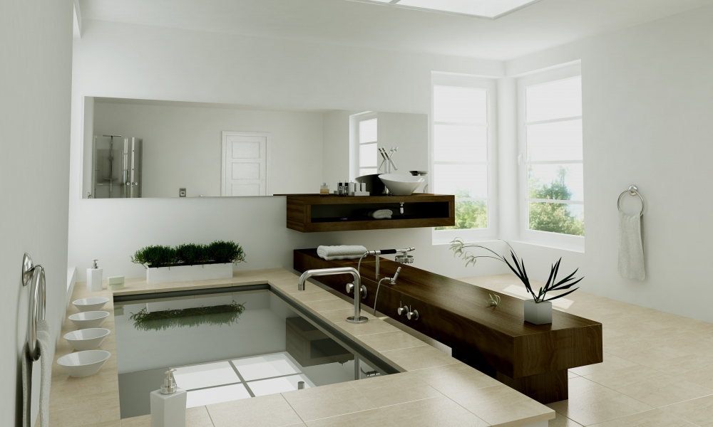 Diseño interior de un baño - 1000x600