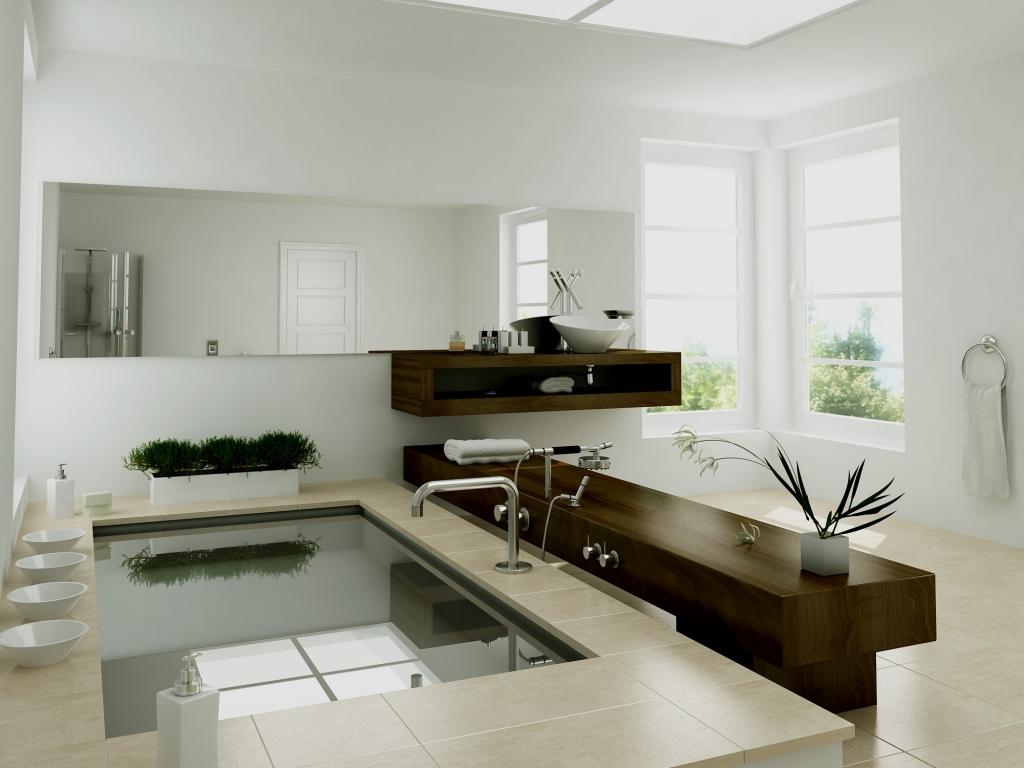 Diseño interior de un baño - 1024x768