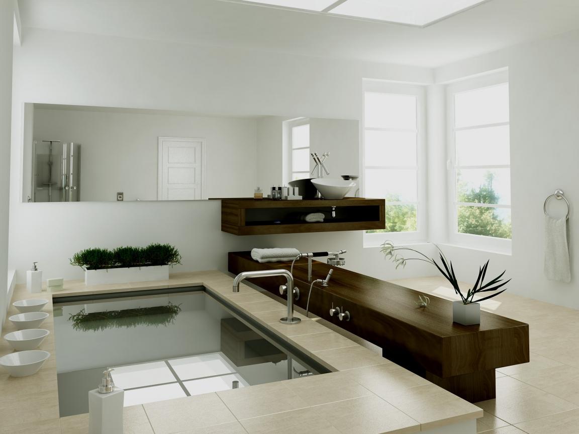 Diseño interior de un baño - 1152x864