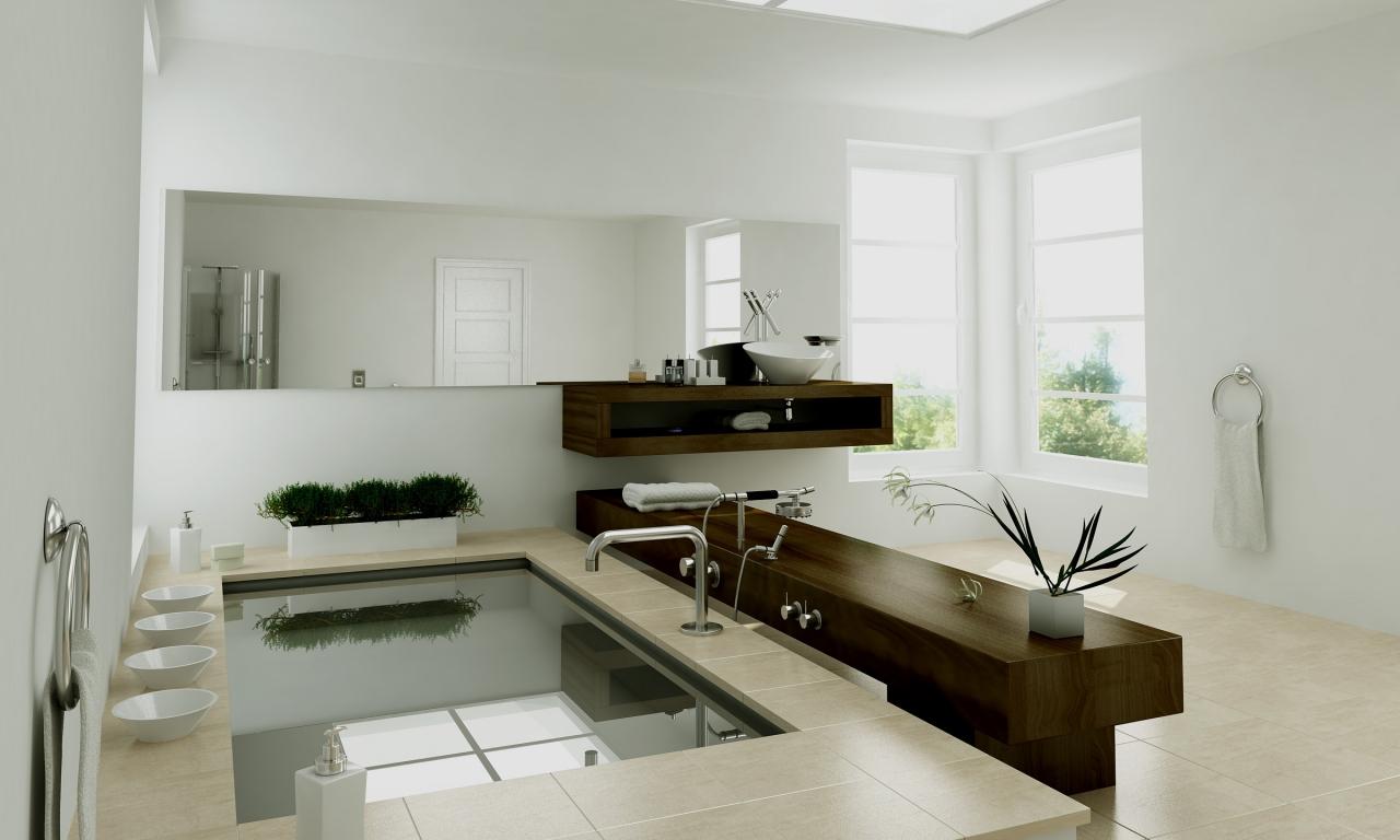 Diseño interior de un baño - 1280x768