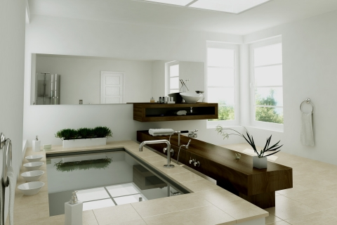 Diseño interior de un baño - 480x320