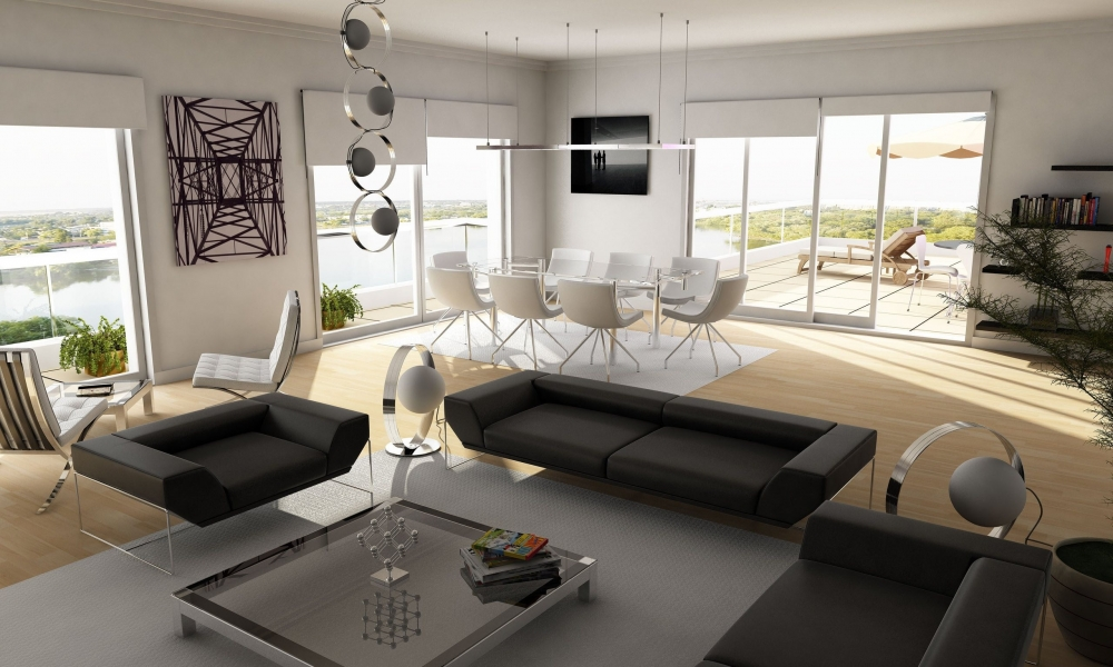 Diseño interior de una casa de campo - 1000x600