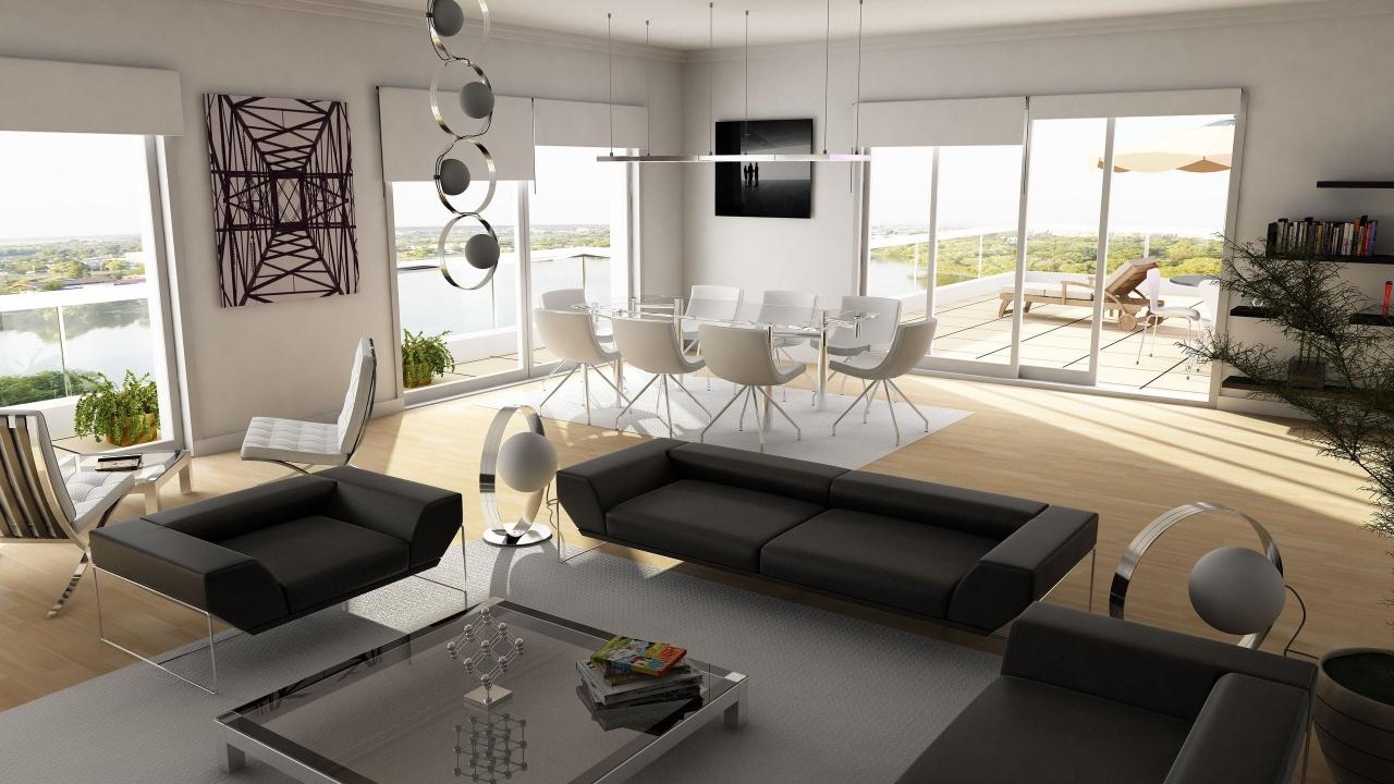 Diseño interior de una casa de campo - 1280x720