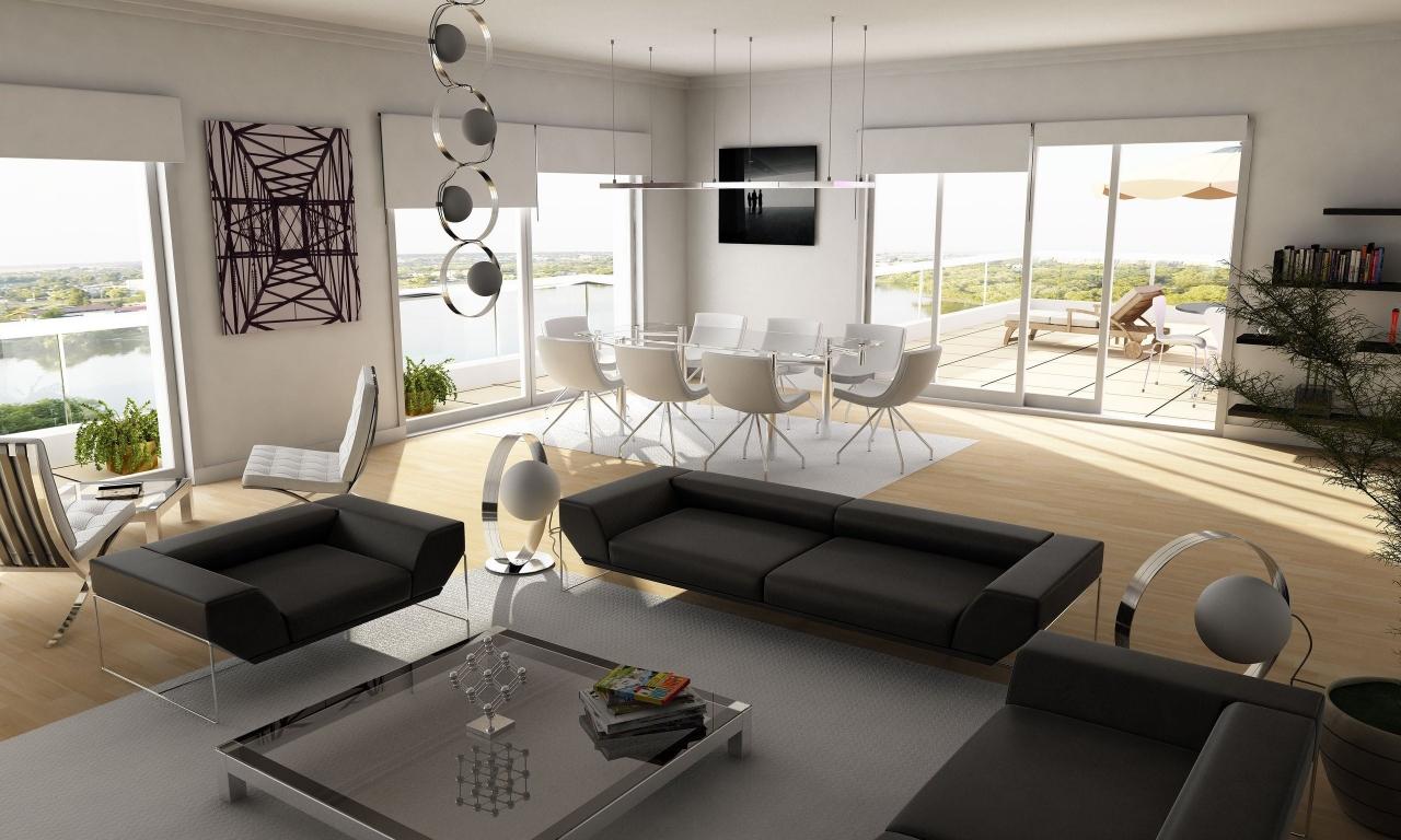 Diseño interior de una casa de campo - 1280x768