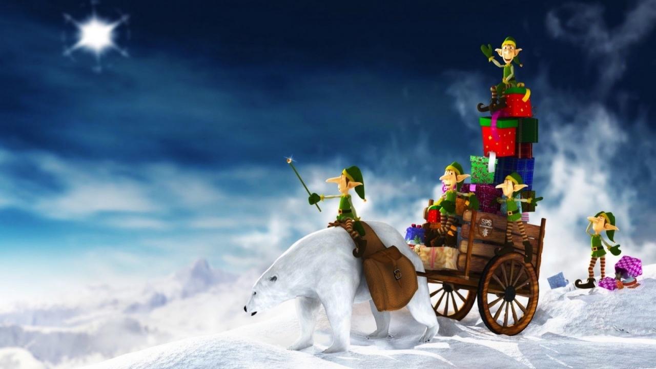 Duendes en navidad - 1280x720