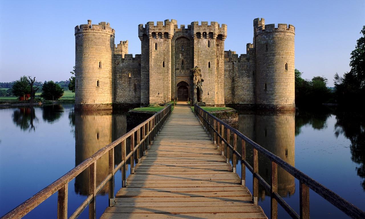 El castillo Bodia en Inglaterra - 1280x768