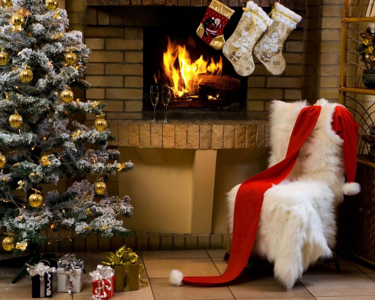 El disfraz de Papa Noel - 1280x1024