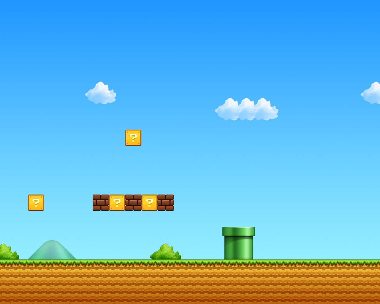 El escenario de Mario Bros - 1280x1024